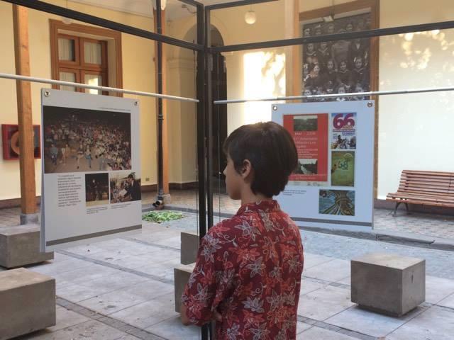 La exposición de imágenes de la población en el Museo de la Educación Gabriela Mistral