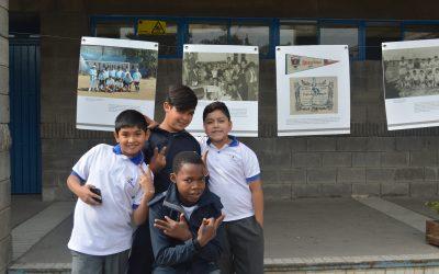 La exposición de imágenes de la población llegó al Colegio San Alberto